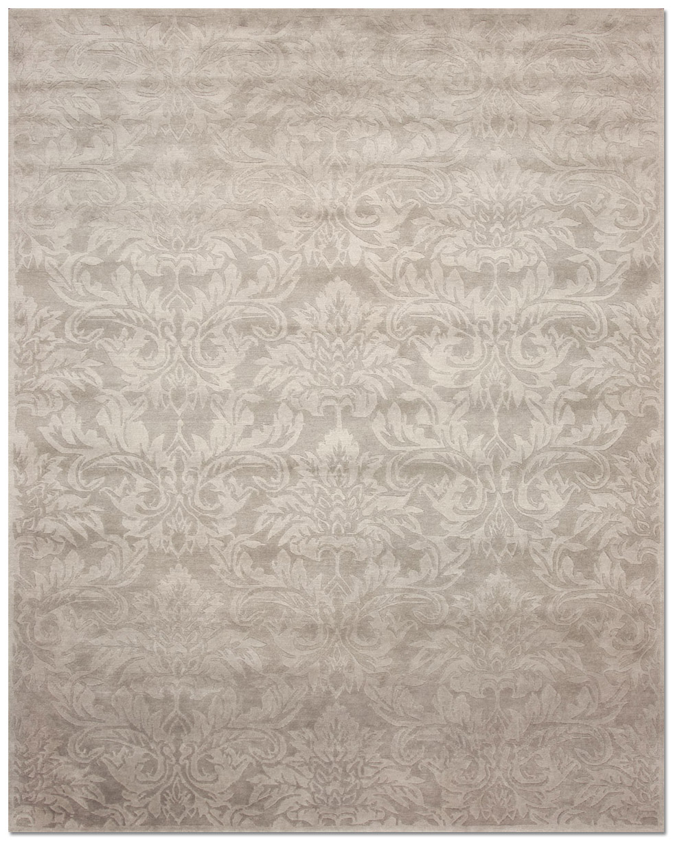 Damask Taupe Rug: Grand Damask