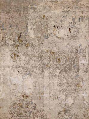 Vintage damask area rug
